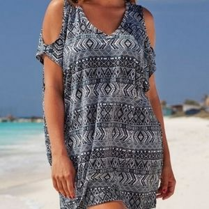 SWIMSUITS FOR ALL Cold Shoulder Cover Up